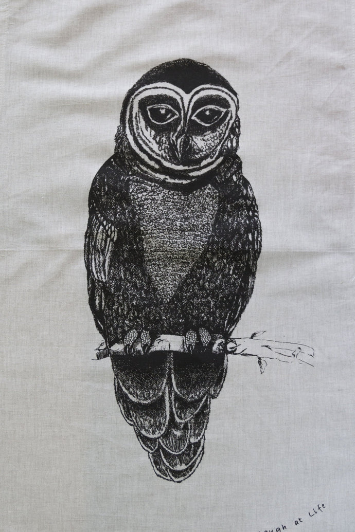 Tea Towel - Laugh at Life Range - Owl - Allgifts Australia