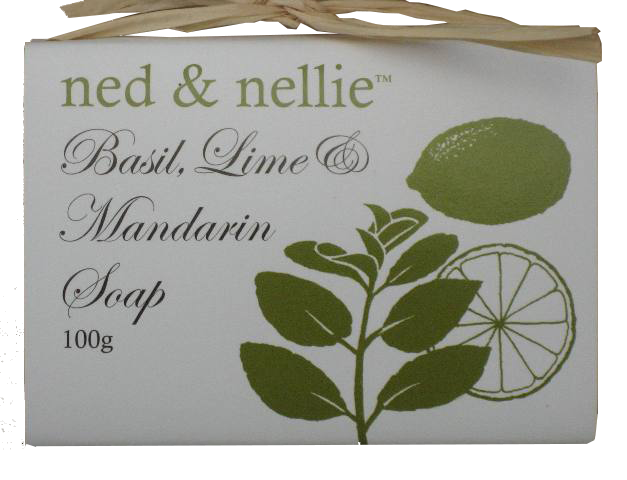 ned & nellie 100g Soap - Basil & Lime - Allgifts Australia