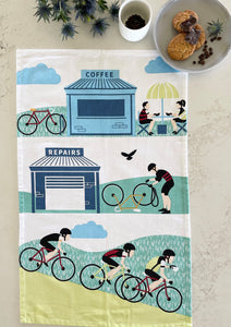Tea Towel - Cycling