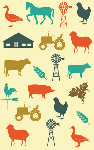 Tea Towel - Farm
