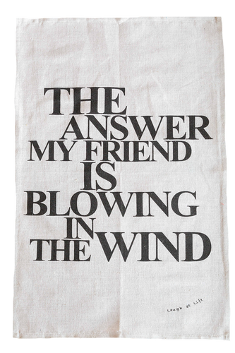 Tea Towel - Laugh at Life Range - Blowing in the Wind