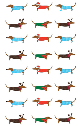 Tea Towel - Xmas Dogs