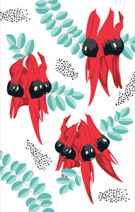 Tea Towel - Desert Pea