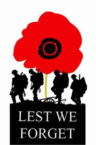 Tea Towel - Lest We Forget - Allgifts Australia