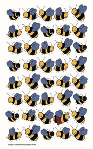 Tea Towel - Bees - Allgifts Australia