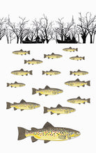 Tea Towel - Trout Fishing