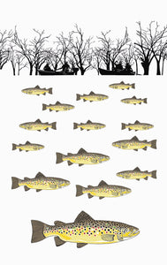 Tea Towel - Trout Fishing - Allgifts Australia
