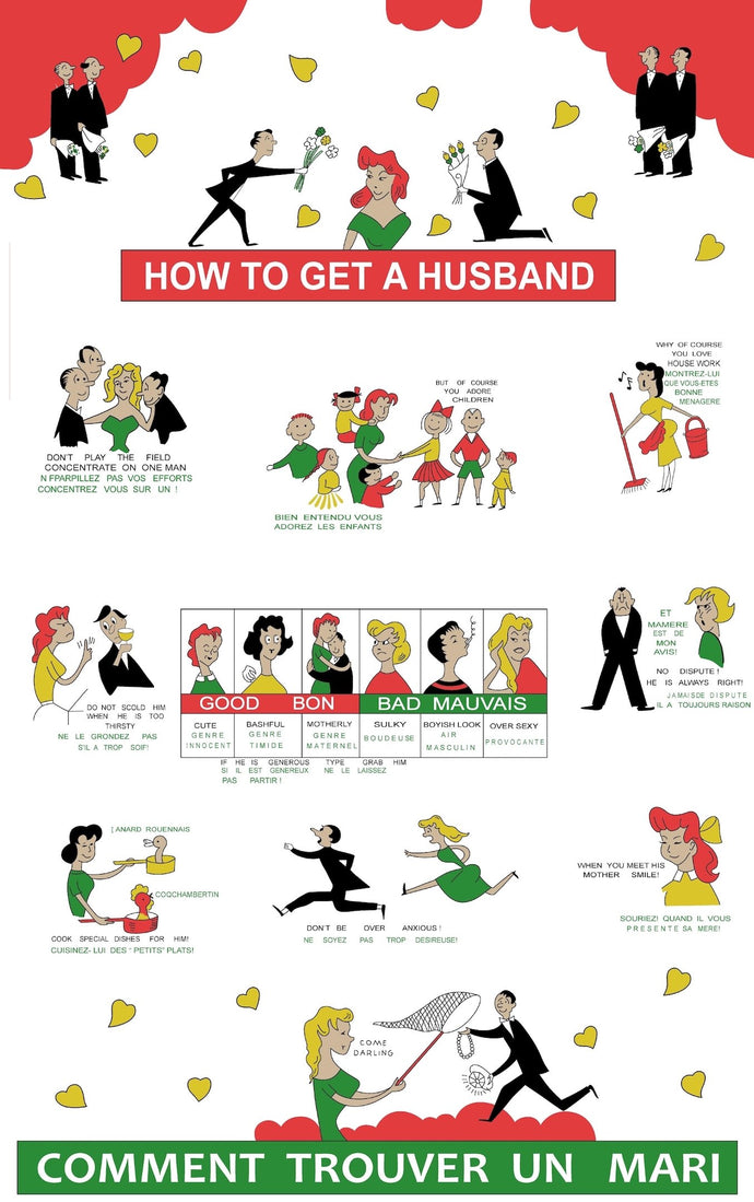 Tea Towel - How To Get a Husband - Allgifts Australia