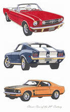 Tea Towel - Classic Cars Mustangs - Allgifts Australia