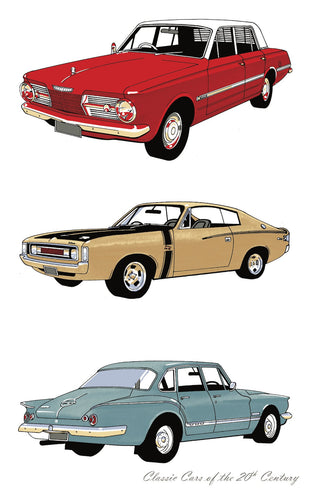 Tea Towel - Classic Cars Valiants - Allgifts Australia