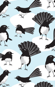 Tea Towel - Willie Wagtail - Allgifts Australia