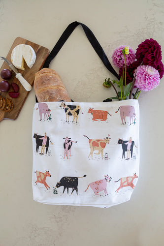 Cotton Tote Bag - Dairy Cows
