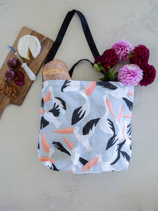 Cotton Tote Bag - Pelicans