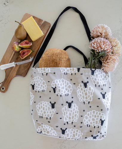 Cotton Tote Bag - Grey Sheep