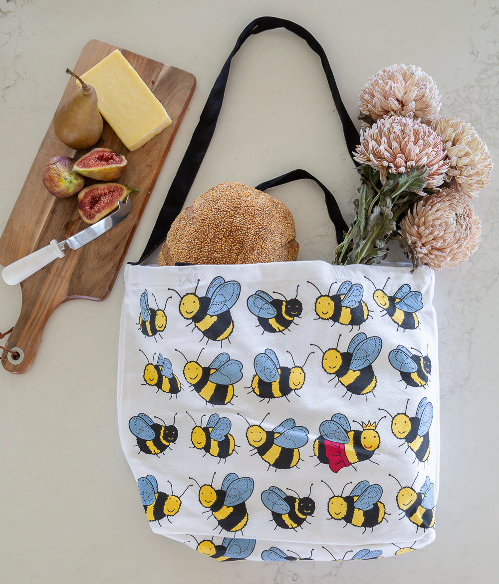 Cotton Tote Bag - Bees
