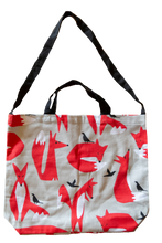 Cotton Tote Bag - Foxes