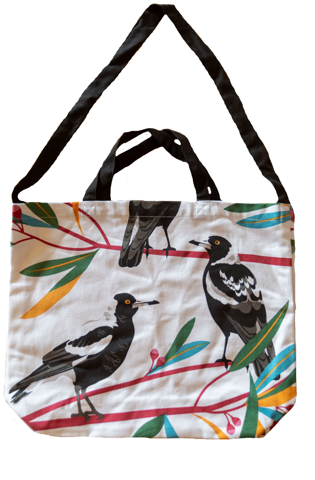 Cotton Tote Bag - Magpies