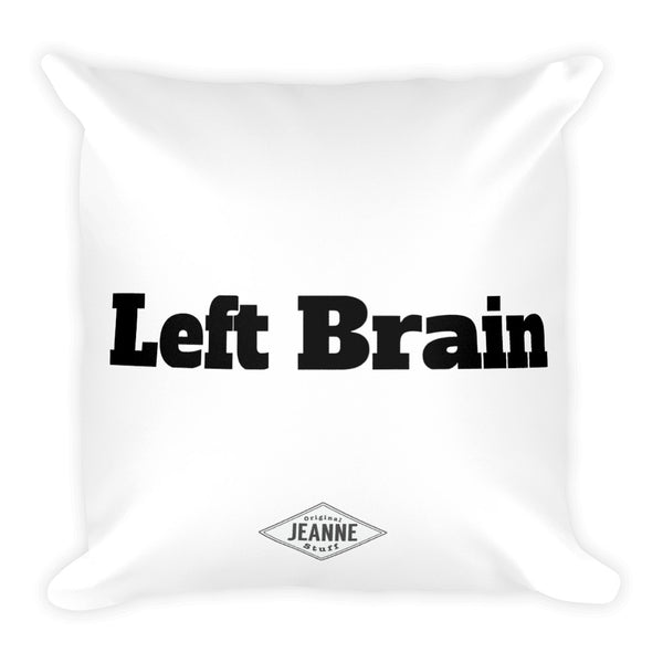 Left Brain Square Pillow