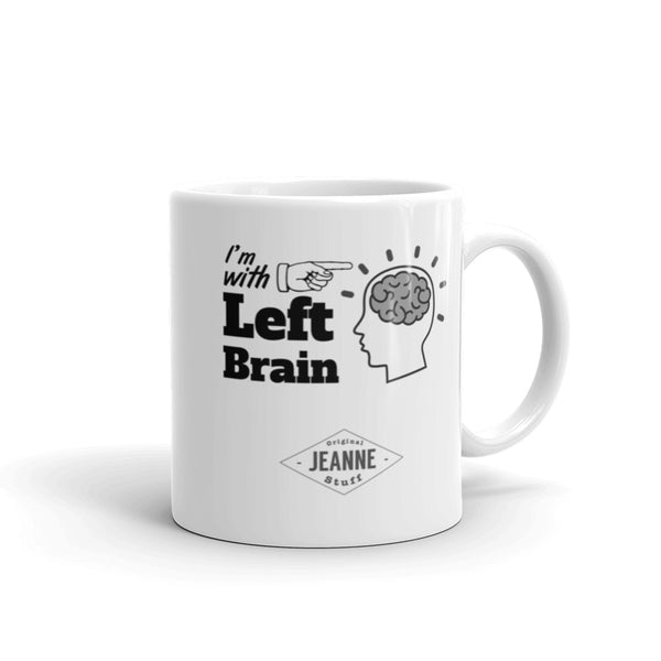 I'm with Left Brain - Mug