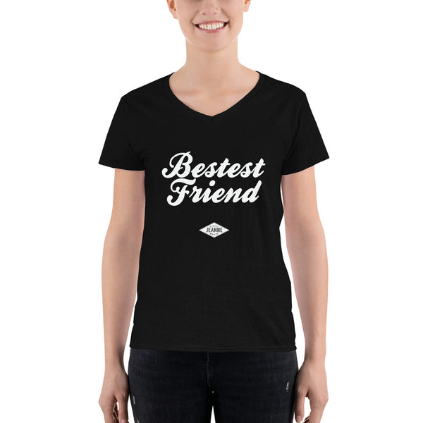 Bestest Friend Casual V-Neck Shirt