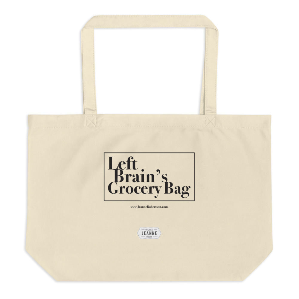 Left Brain's Grocery Bag - Large