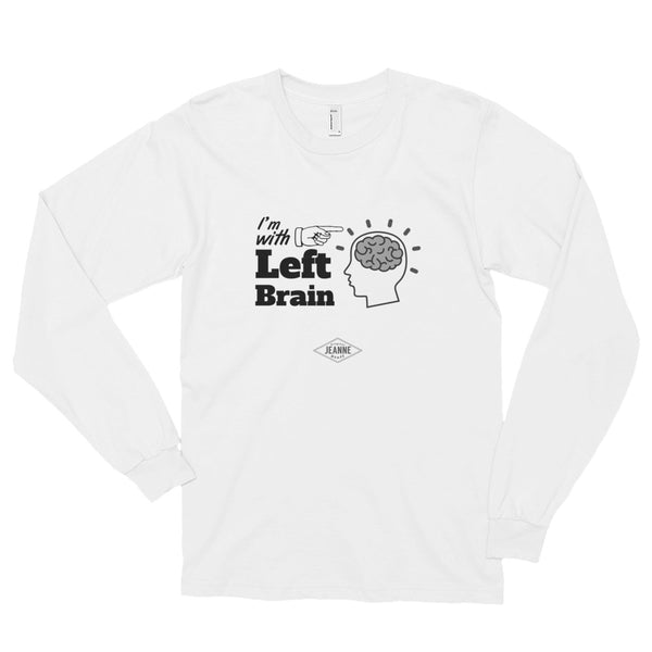 I'm with LB - white Long sleeve t-shirt (unisex)