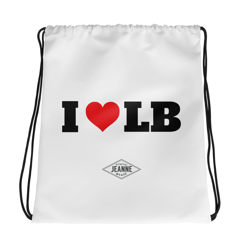 I love LB Drawstring bag