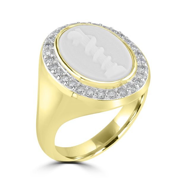 Cameo Ring White Topaz
