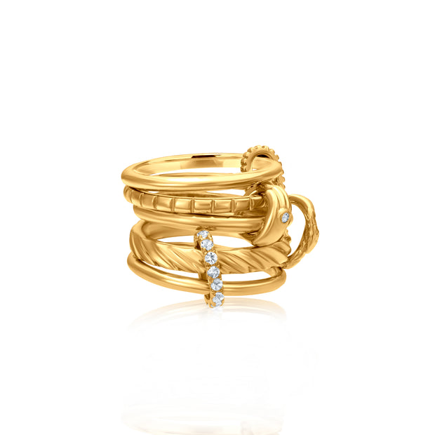 Snake Helping Hands Ring 5-Band