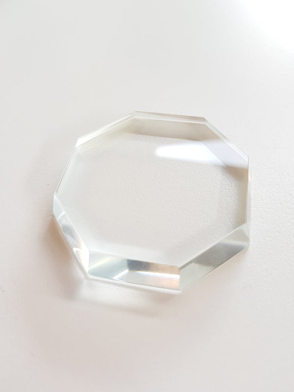 Octagonal Glass Glue stone