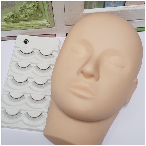 Mannequin Head Flat backed - For Lash Practice