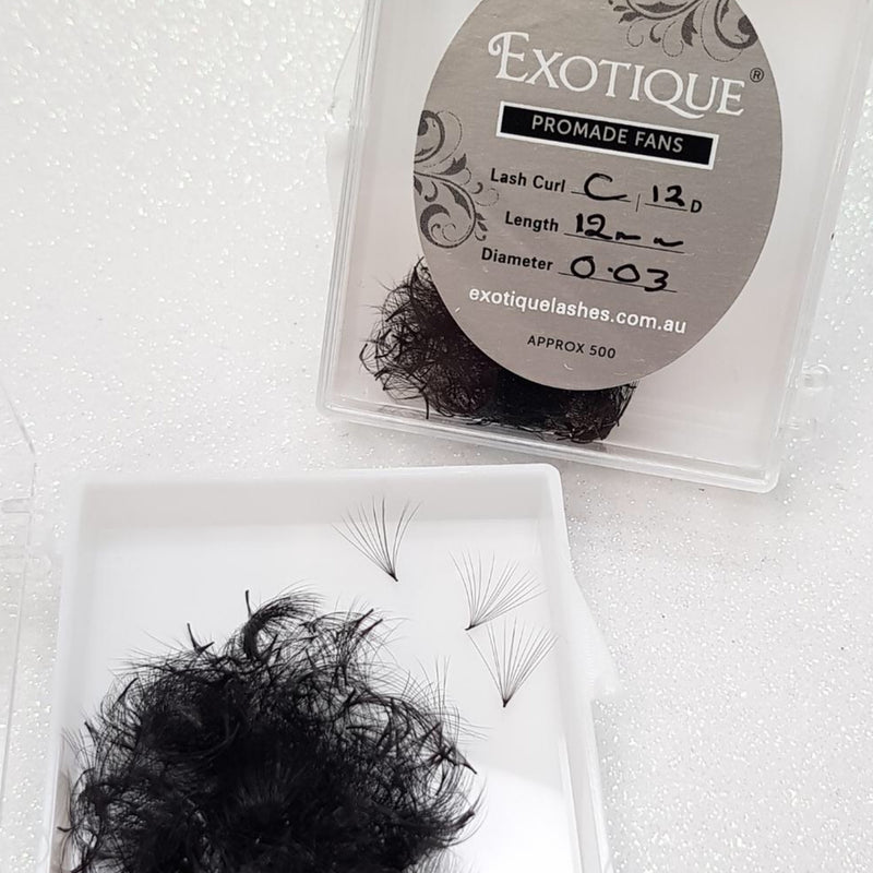Exotique Promades 12D 0.03 available in C or D Curls (Loose Approx 500)