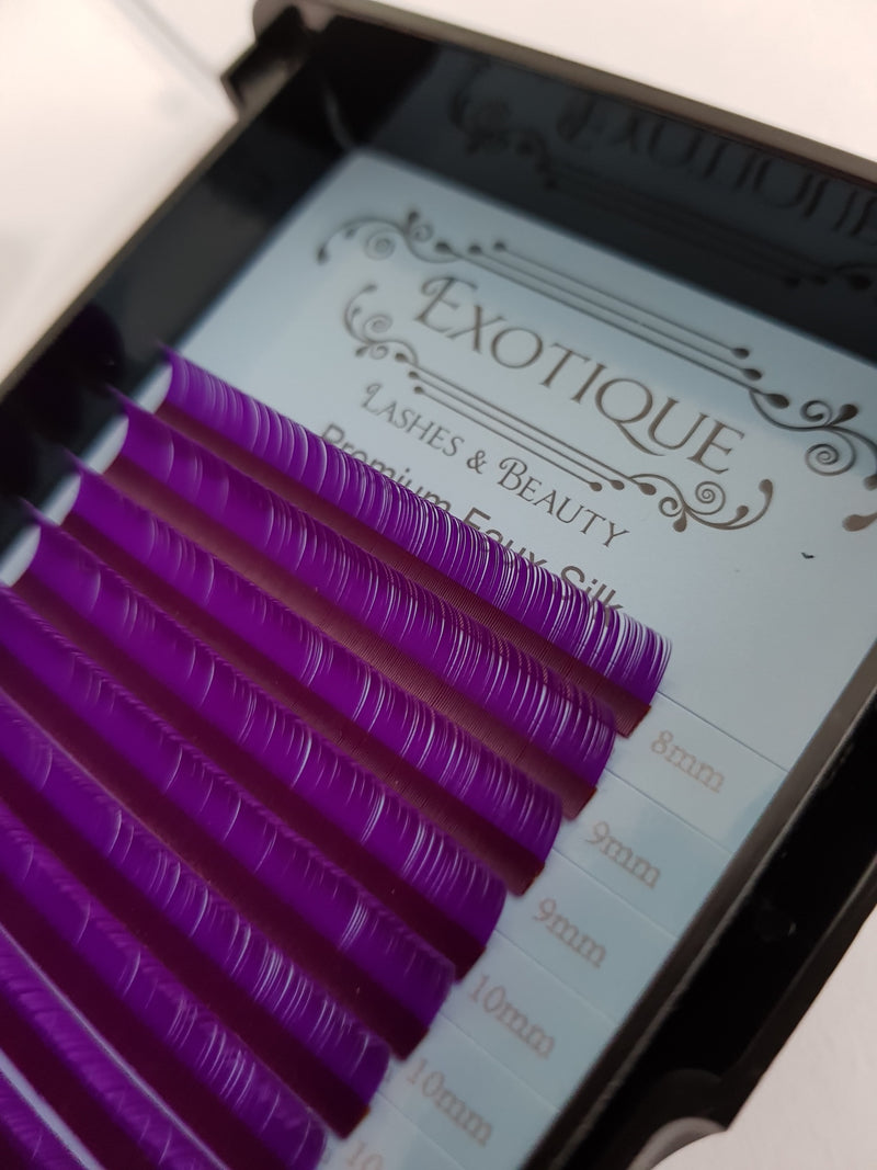 0.15  C Curl, Blue, Green or Purple 8mm- 15mm Mixed Length Lash Trays