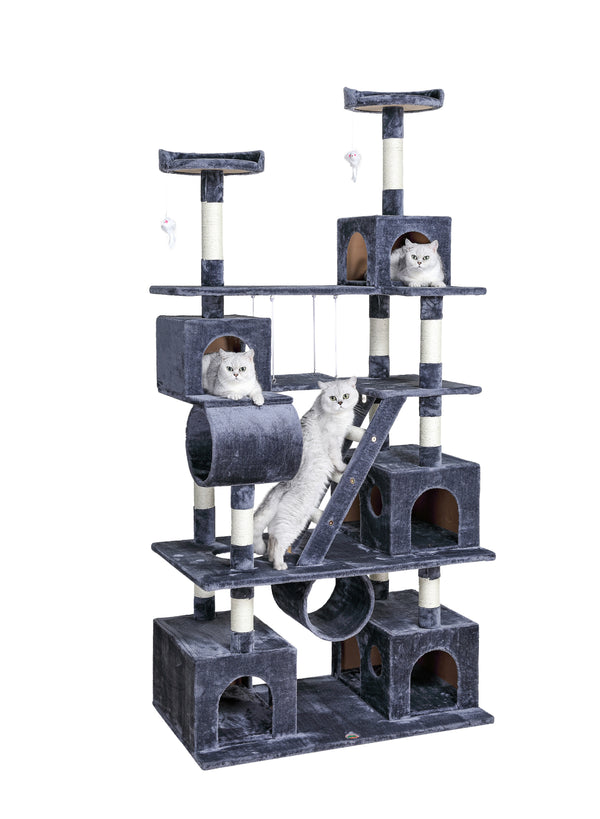 "87"" Cat Tree Climber with Swing (F216)"