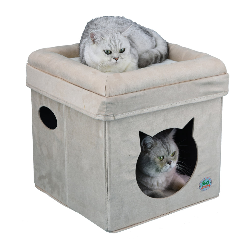 Comfy Cat Cube Bed (Cat Face)