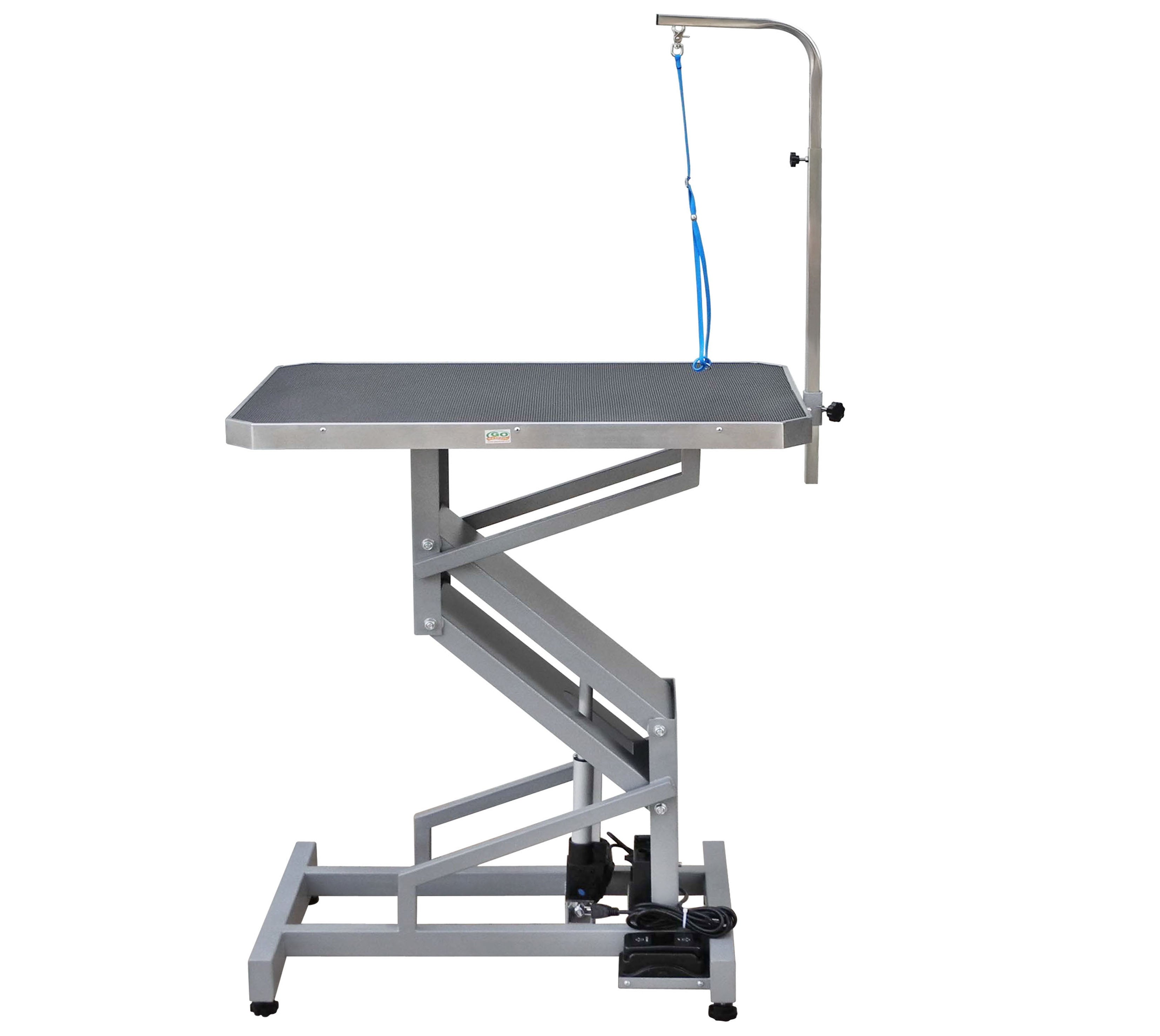 WilTec Hydraulic Grooming Table for Pets 60 kg Height Adjustable with Scratch Resistant Surface
