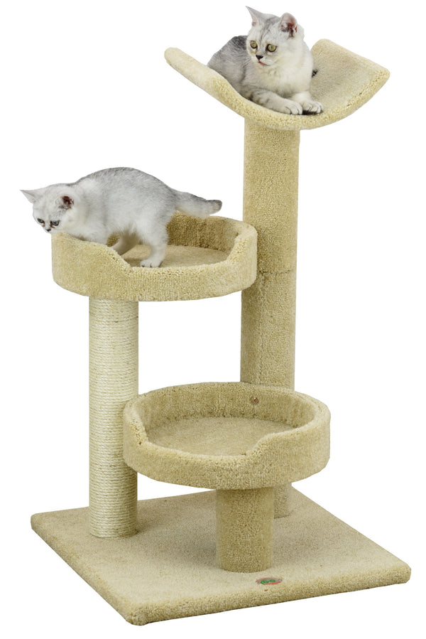 "36"" Premium Carpeted Cat Tree Furniture"