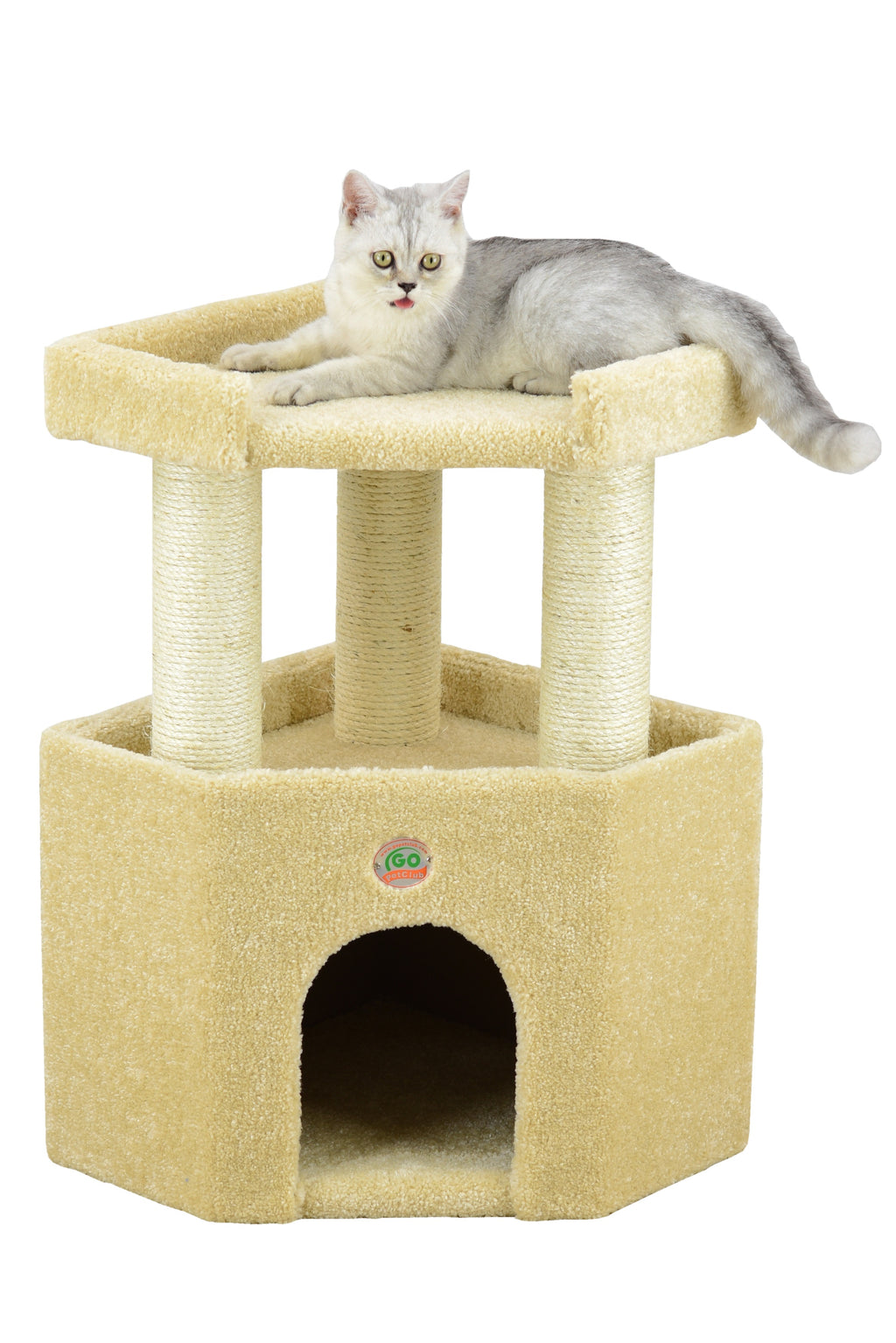 "27"" Premium Carpeted Cat Tree Furniture (LP-813)"