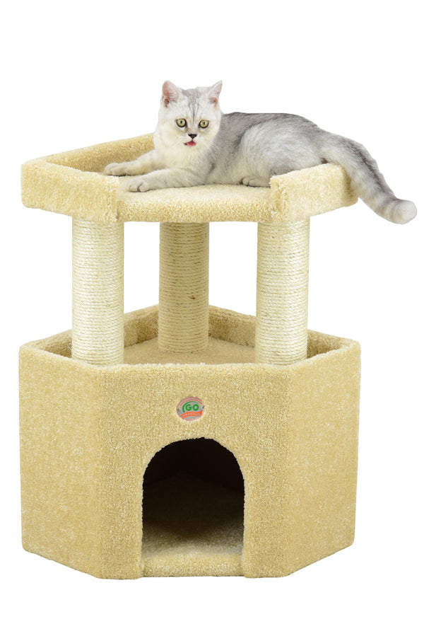 "27"" Premium Carpeted Cat Tree Furniture"