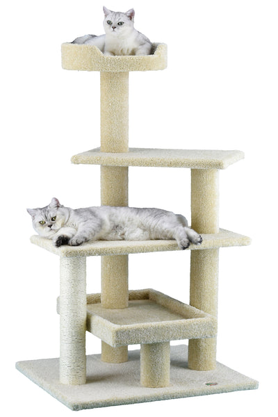 52 Quot Premium Carpeted Cat Tree Furniture Lp 815 Go Pet Club