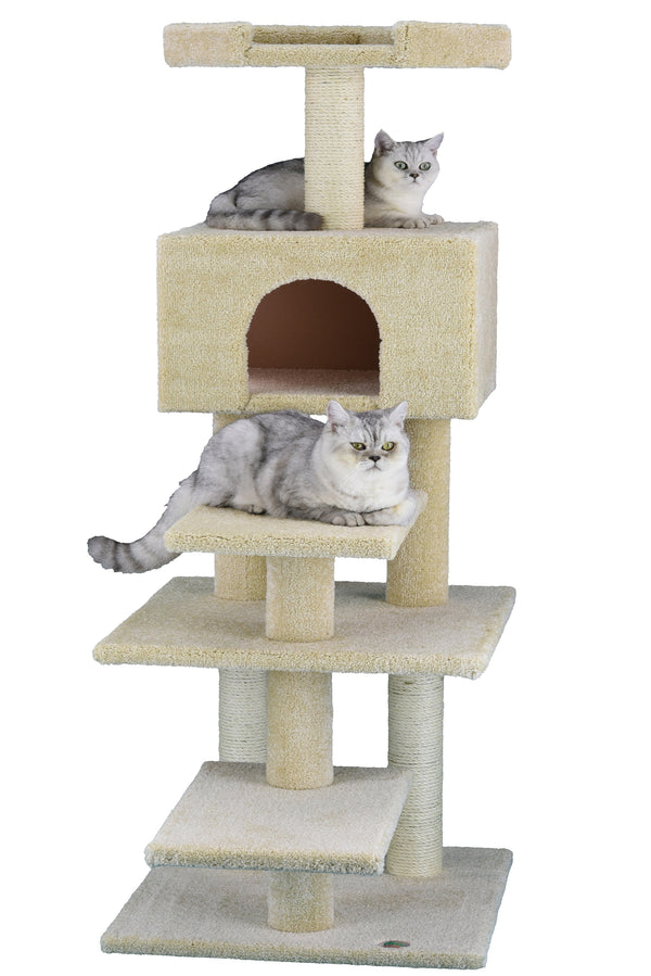 "61"" Premium Carpeted Cat Tree Furniture"
