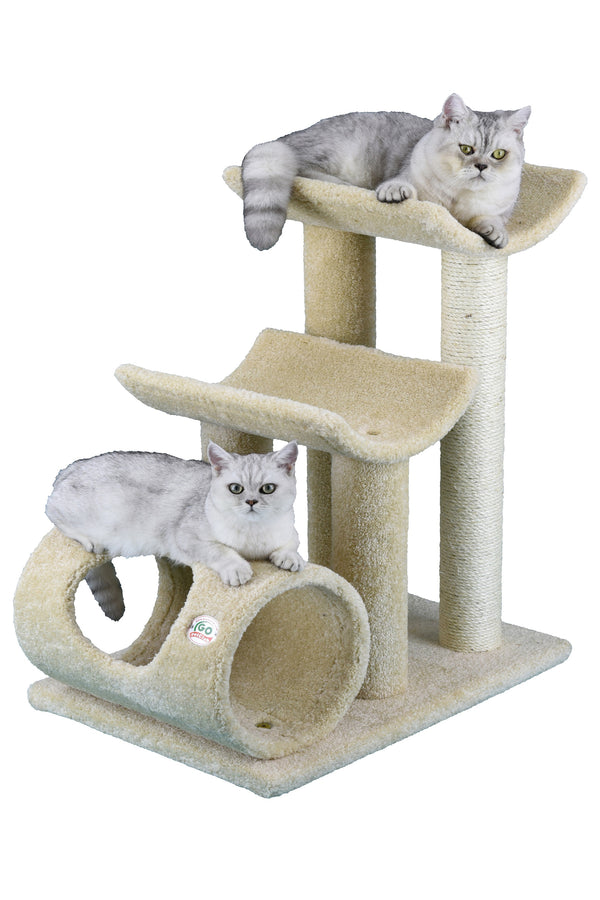 "30"" Premium Carpeted Cat Tree Furniture (LP-821)"