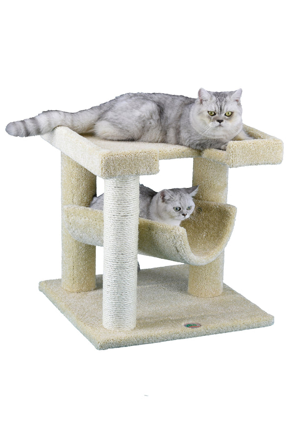 "23"" Premium Carpeted Cat Tree Furniture"