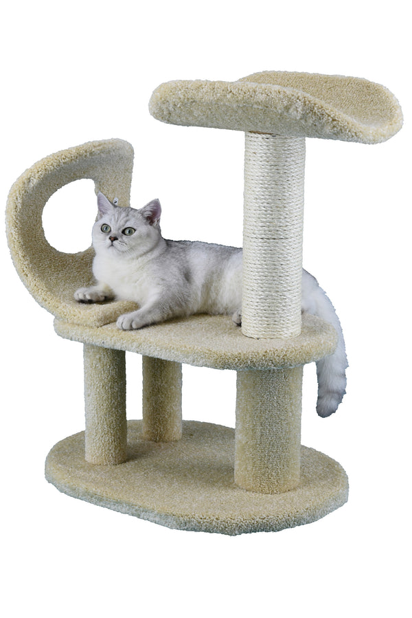 "28"" Premium Carpeted Cat Tree Furniture"