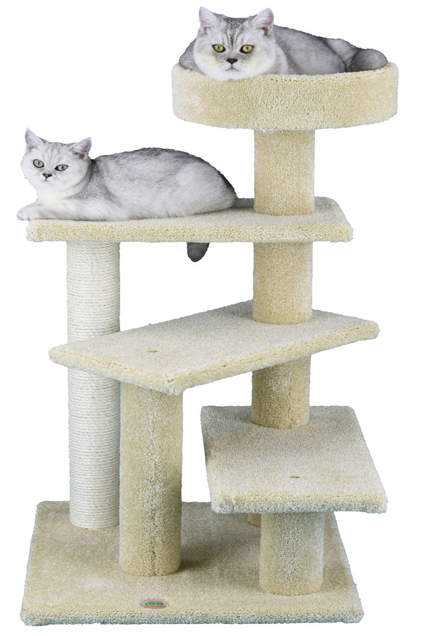 "31"" Premium Carpeted Cat Tree Furniture"