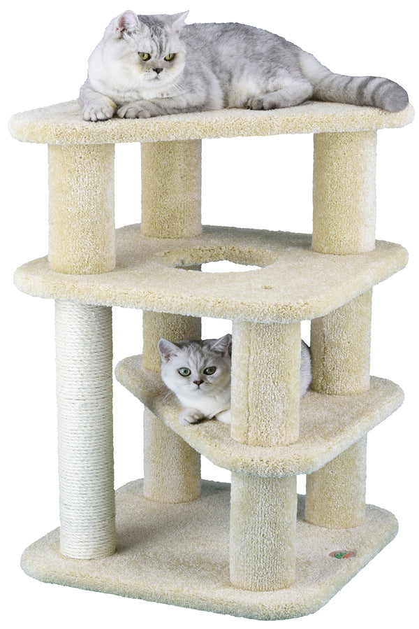 "32"" Premium Carpeted Cat Tree Furniture"