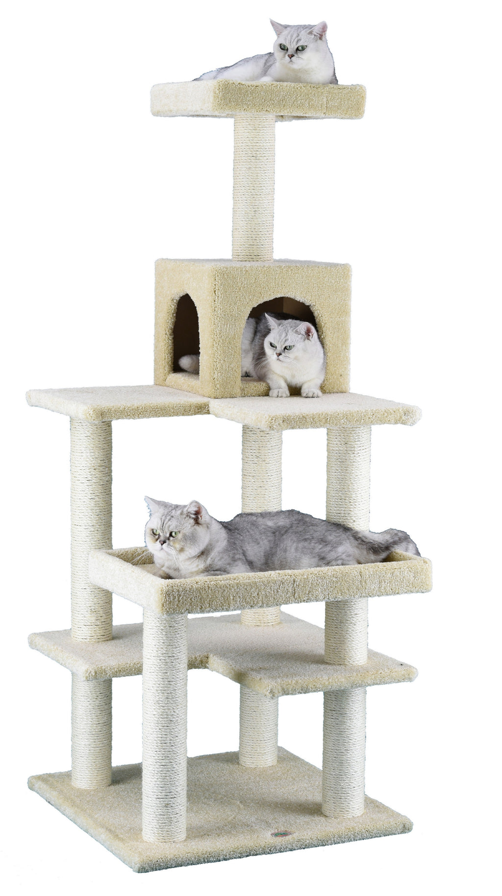 "64"" Premium Carpeted Cat Tree Furniture (LP-846)"