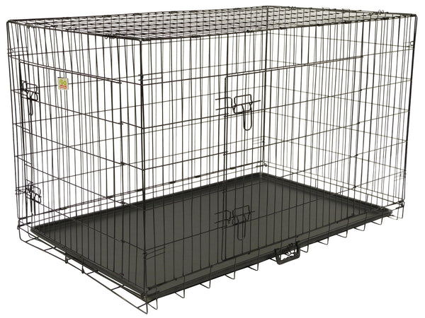 "2 Doors Metal Dog Crate with Divider (Available in 24"" to 54"")"