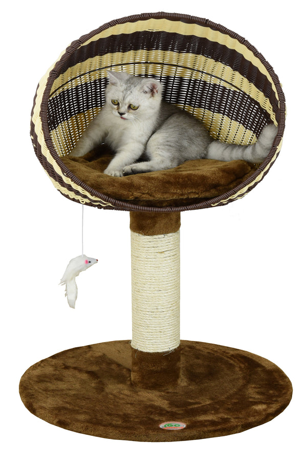 "33"" Rattan Wicker Cat Tree (SF083)"