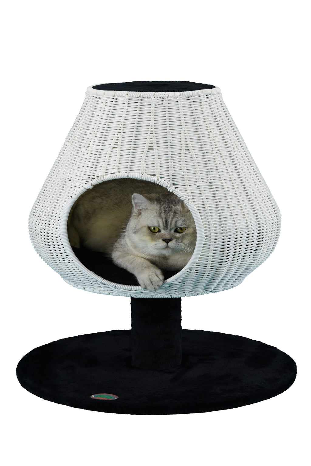 "25"" Rattan Wicker Cat Tree (SF084)"